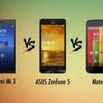 Xiaomi Mi 3 vs ASUS Zenfone 5 vs Moto G: sportscars at hatchback prices [spec showdown]